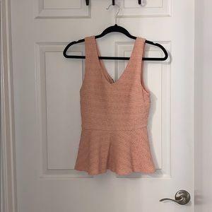 Blush tank blouse